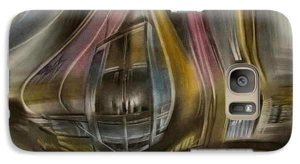Galaxy Case featuring the pastel Tunnelscape 2010 by Glenn Bautista