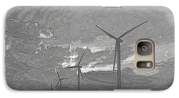 Galaxy Case featuring the photograph Turbines In Pencil by Jim McCain