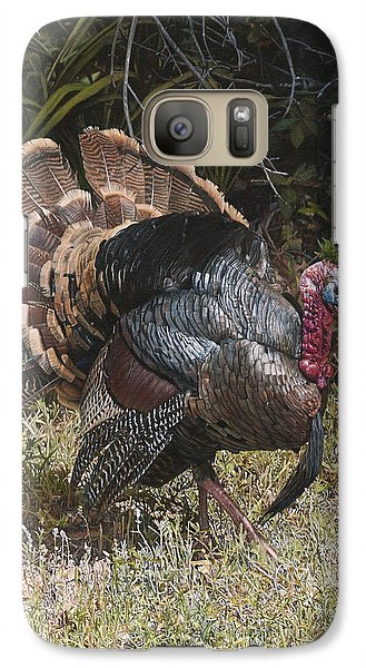 Galaxy Case featuring the painting Turkey In The Weeds by Joshua Martin