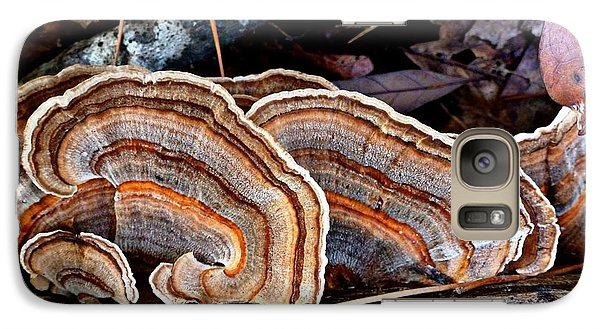 Galaxy Case featuring the photograph Turkey Tail Fungi In Autumn by William Tanneberger