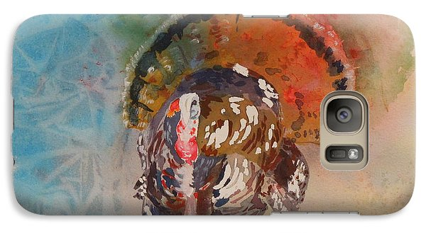 Galaxy Case featuring the painting Turkey Time by Mary Haley-Rocks