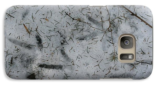 Galaxy Case featuring the photograph Turkey Track Abstract by Patricia Overmoyer