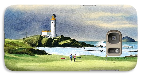 Turnberry Golf Course Scotland 10th Green Galaxy S7 Case by Bill Holkham