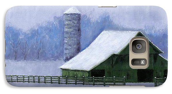 Galaxy Case featuring the painting Turner Barn In Brentwood by Janet King