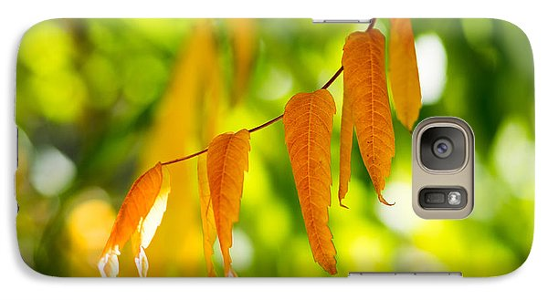 Galaxy Case featuring the photograph Turning Autumn by Aaron Aldrich