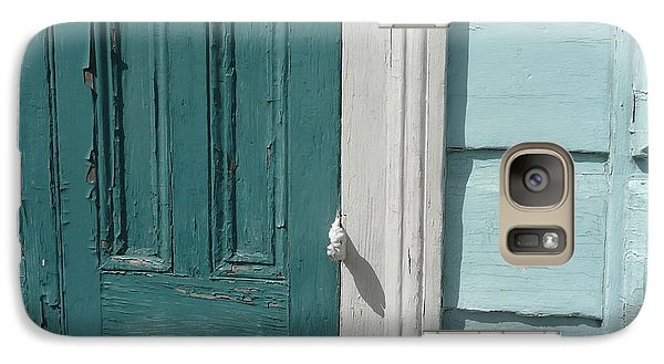 Galaxy Case featuring the photograph Turquoise Door by Valerie Reeves
