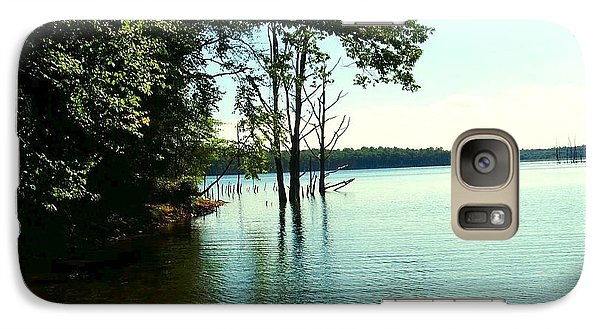 Galaxy Case featuring the photograph Turquoise Lake by Becky Lupe
