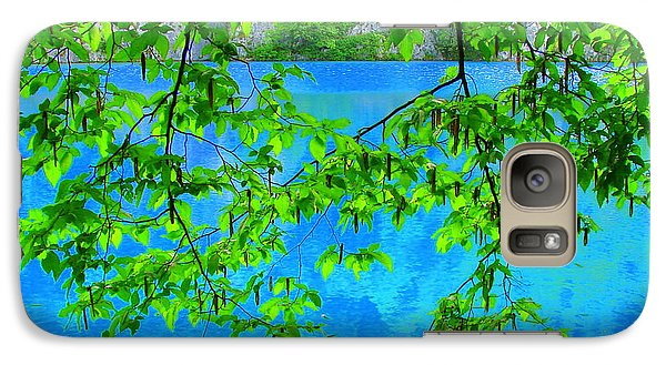 Galaxy Case featuring the photograph Turquoise Lake by Ramona Johnston