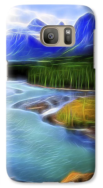 Galaxy Case featuring the digital art Turquoise Light 1 by William Horden