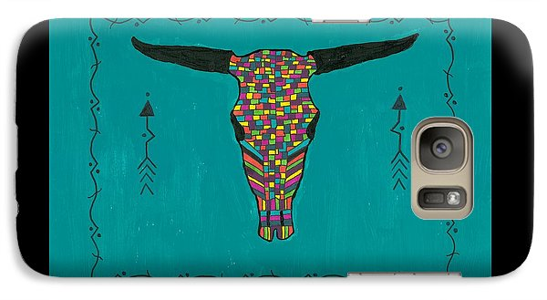 Galaxy Case featuring the painting Turquoise Longhorn Skull by Susie Weber
