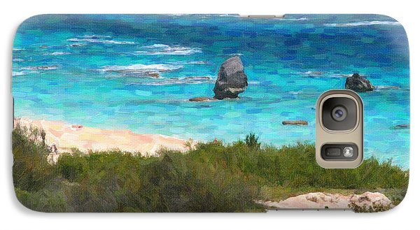 Galaxy Case featuring the photograph Turquoise Ocean And Pink Beach by Verena Matthew