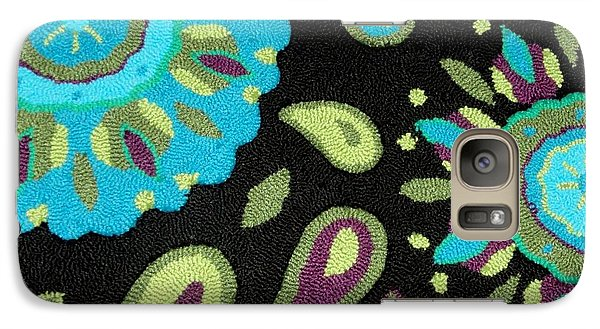 Galaxy Case featuring the photograph Tapestry Turquoise Rug by Janette Boyd
