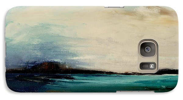 Galaxy Case featuring the painting Turquoise Sea by Lindsay Frost