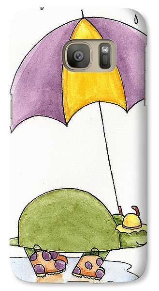 Turtle In The Rain Galaxy S7 Case by Christy Beckwith