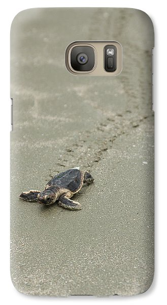 Galaxy Case featuring the photograph Turtle Tracks by Patricia Schaefer