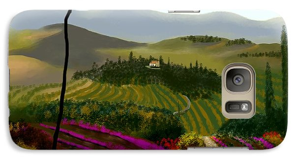 Galaxy Case featuring the painting Tuscan Countryside by Larry Cirigliano