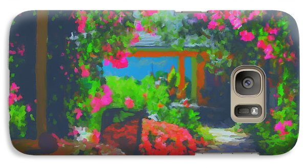 Galaxy Case featuring the painting Tuscan Courtyard by Tim Gilliland