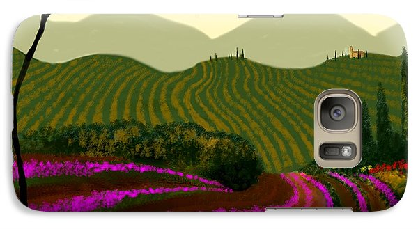 Galaxy Case featuring the painting Tuscan Fields Of Color by Larry Cirigliano