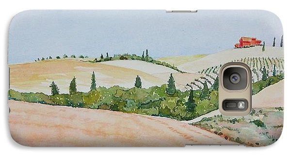Galaxy Case featuring the painting Tuscan Hillside One by Mary Ellen Mueller Legault