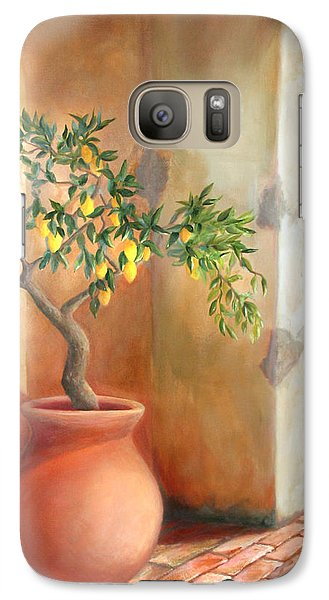 Galaxy Case featuring the painting Tuscan Lemon Tree by Michael Rock