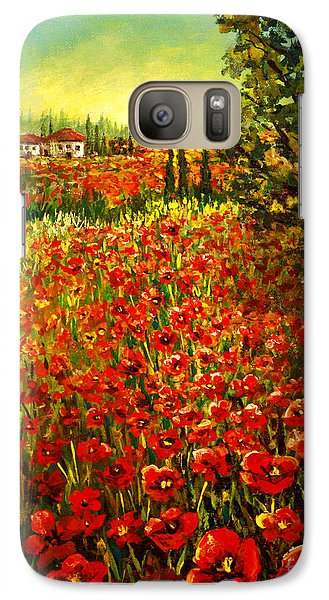 Galaxy Case featuring the painting Tuscan Poppies by Lou Ann Bagnall