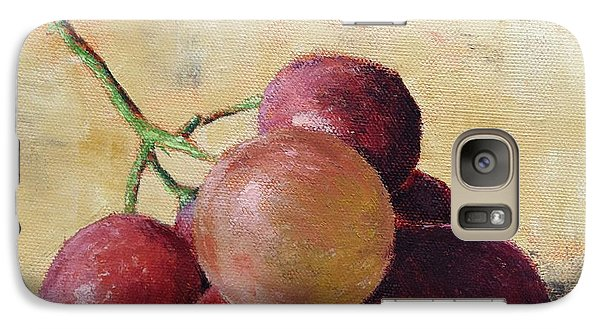 Galaxy Case featuring the painting Tuscan Red Globe Grapes by Pam Talley