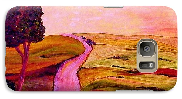 Galaxy Case featuring the painting Tuscan Skies ... An Impressionist View by Eloise Schneider
