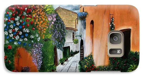Galaxy Case featuring the painting Tuscan Street Scene by Bev Conover