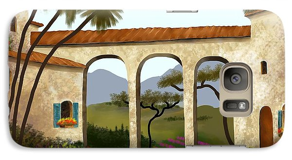 Galaxy Case featuring the painting Tuscan Villa Of Beauty  by Larry Cirigliano