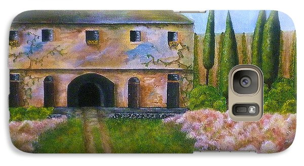 Galaxy Case featuring the painting Tuscan Villa by Tamyra Crossley