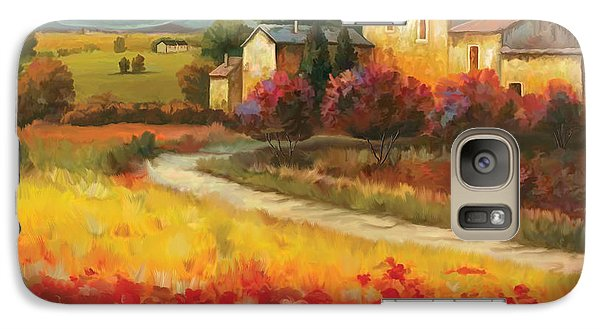 Galaxy Case featuring the painting Tuscan Villa  by Tim Gilliland