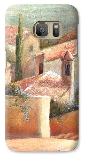 Galaxy Case featuring the painting Tuscan Village by Michael Rock