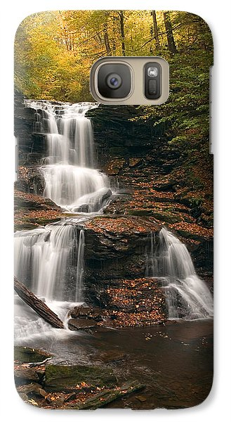 Galaxy Case featuring the photograph Tuscarora Under Newfallen Leaves by Gene Walls