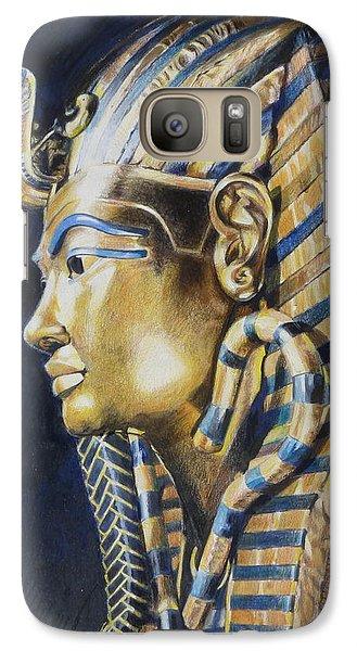 Galaxy Case featuring the mixed media Tutankhamon by Constance Drescher