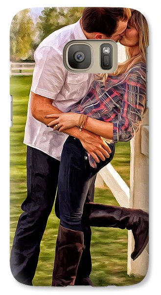 Galaxy Case featuring the painting Twas Not My Lips You Kissed But My Soul by Michael Pickett