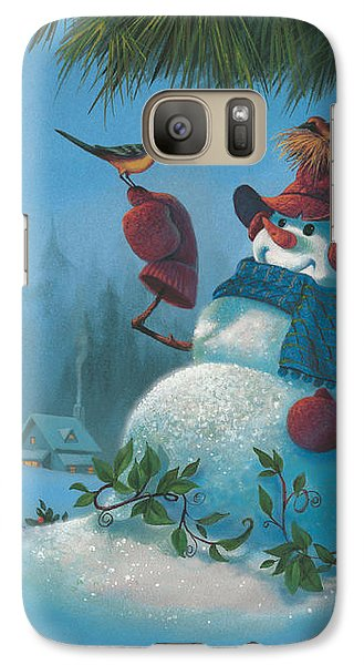 Galaxy Case featuring the painting Tweet Dreams by Michael Humphries