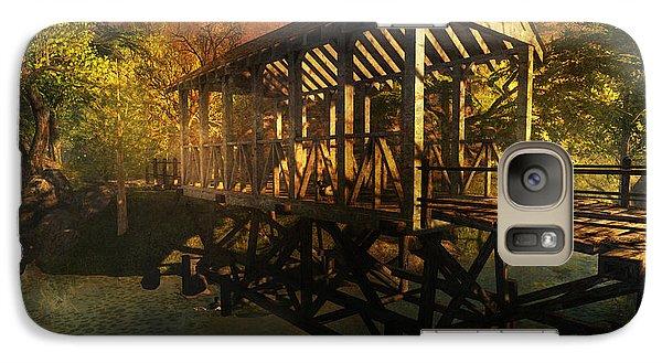 Galaxy Case featuring the digital art Twilight Bridge by Kylie Sabra