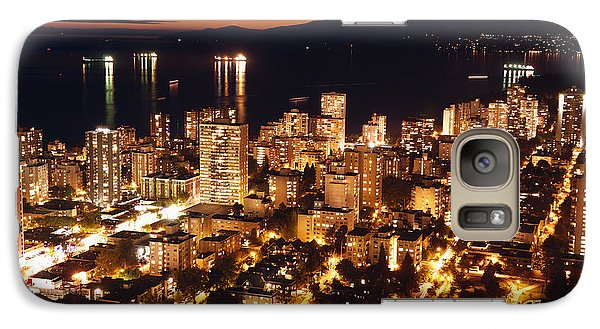 Galaxy Case featuring the photograph Twilight English Bay Vancouver Mdlxvii by Amyn Nasser