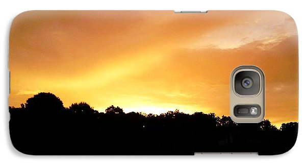 Galaxy Case featuring the photograph Twilight In Orange by Carlee Ojeda