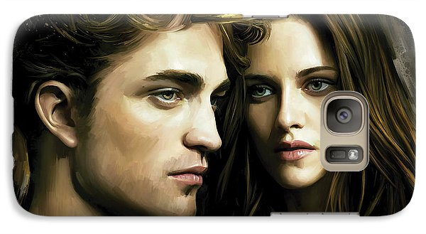 Galaxy Case featuring the painting Twilight  Kristen Stewart And Robert Pattinson Artwork 4 by Sheraz A