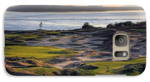 Galaxy Case featuring the photograph Twilight Paradise - Chambers Bay Golf Course by Chris Anderson