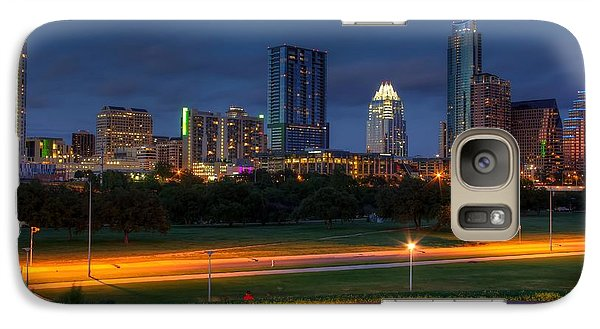 Galaxy Case featuring the photograph Twilight Skyline by Dave Files