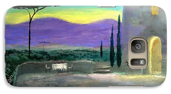 Galaxy Case featuring the painting Twilight Tuscany by Larry Cirigliano