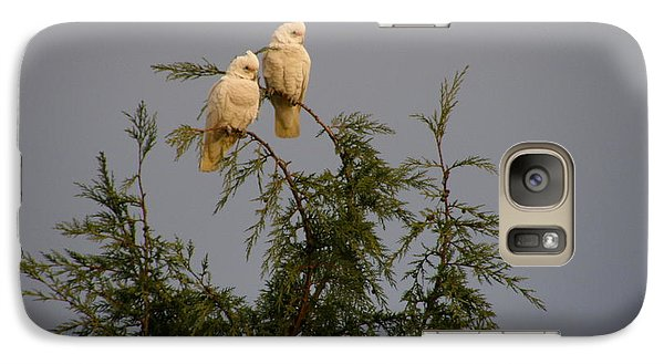 Galaxy Case featuring the photograph Twin Cockatoos by Bev Conover