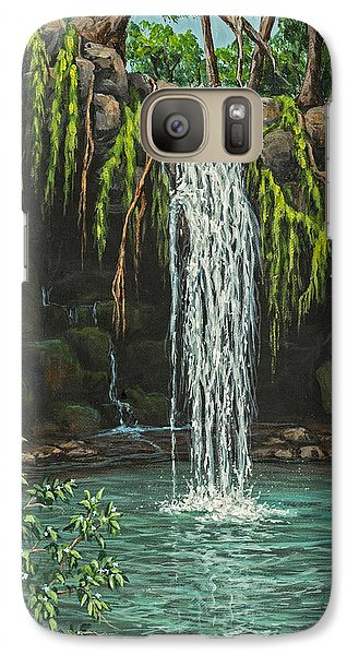 Galaxy Case featuring the painting Twin Falls by Darice Machel McGuire