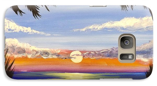 Galaxy Case featuring the painting Twin Palms by Darren Robinson