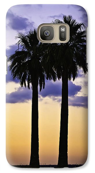 Galaxy Case featuring the photograph Twin Palms by Sherri Meyer