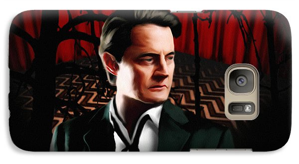 Galaxy Case featuring the painting Twin Peaks  Dale Cooper by Jeff DOttavio