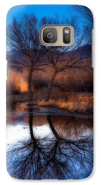 Galaxy Case featuring the photograph Twin Trees by Kristal Kraft