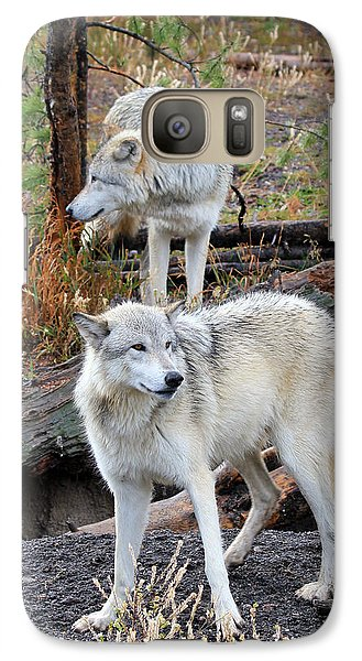 Galaxy Case featuring the photograph Twin Wolves by Athena Mckinzie